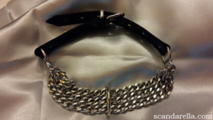 ZADO LEATHER & CHAIN COLLAR 2