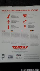 Tantus Destiny Back of Packaging