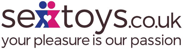 Sex Toys UK 'your pleasure is our passion' Black, Pink & Blue logo