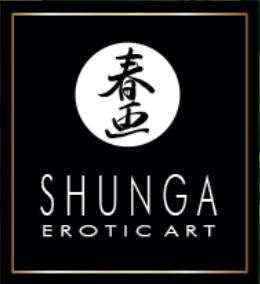 Shunga Aphrodisiac Warming Oil Shunga white on black logo