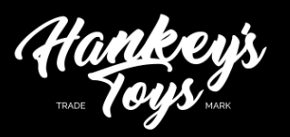 Hankey's Dragon XL Dildo Review, Hankey's Toys logo, white text on black background