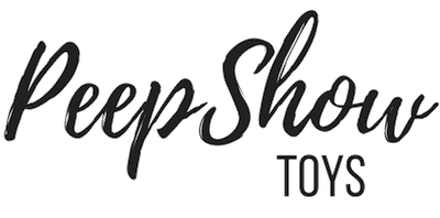 Uberrime Helios Dildo Review, image of Peepshow Toys' logo, black text on a white background