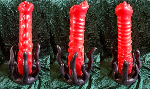 Primal Hardwere G'lorp Ovipositor Review, image showing front, side and back views of the ovipostor
