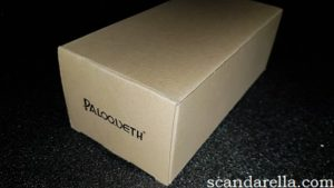 Paloqueth Ultra Realistic Dual Density Dildo Review, the dildo's plain cardboard box with Paloqueth logo